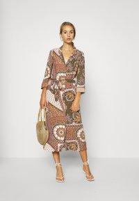 Object - OBJSUN LONG DRESS - Sukienka letnia - burnt olive - 1
