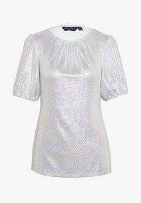 Dorothy Perkins - PUFF SLEEVE TEE - Print T-shirt - silver - 4