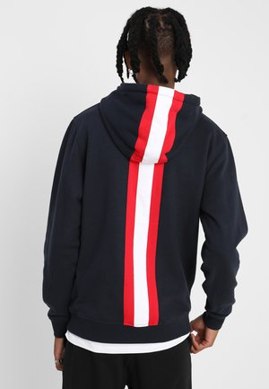 BACK STRAPE  - Hoodie - navy/firered/white