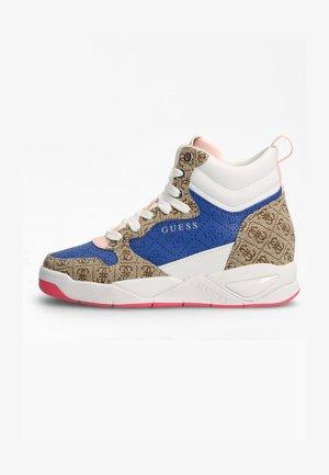 Sneakers hoog - mehrfarbig beige