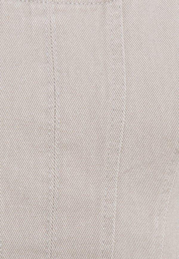 Missguided Petite MILKMAID SLEEVES - Bluzka - grey/szary ZHXH