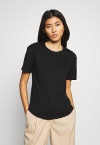 Weekday - ALANIS 2 PACK - Basic T-shirt - black - 2