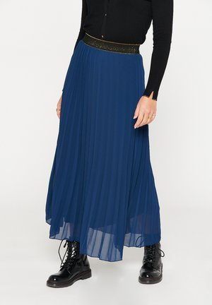 Pleated skirt - navy blue