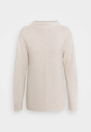 LONGSLEEVE STRUCTURE MIX TURTLENECK - Jumper - sandy melange