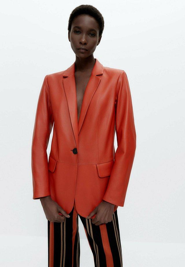 Leren jas - orange