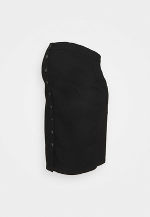 MLASH SKIRT - Spódnica trapezowa - black denim