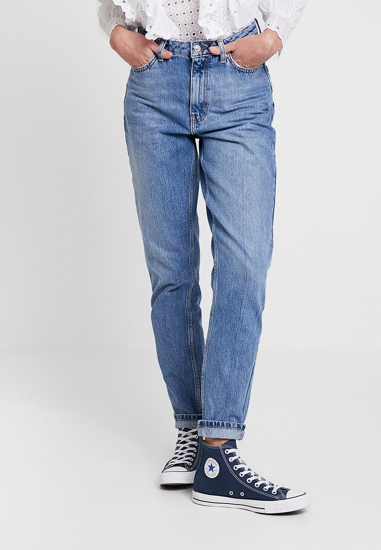 Topshop - MOM NEW - Relaxed fit jeans - blue denim