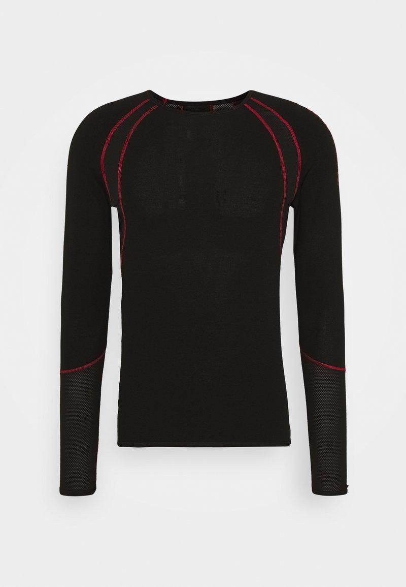 LÖFFLER - AIRVENT TRANSTEX LIGHT - Funktionsshirt - black/red