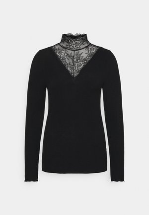 PCSIRI T NECK - Sweter - black
