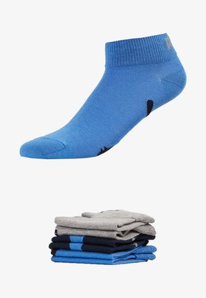 PUMA UNISEX LIFESTYLE QUARTERS 6P - Sports socks - navy / grey / strong blue