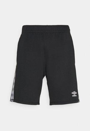 TAPED SHORT LOOPBACK - Sports shorts - black