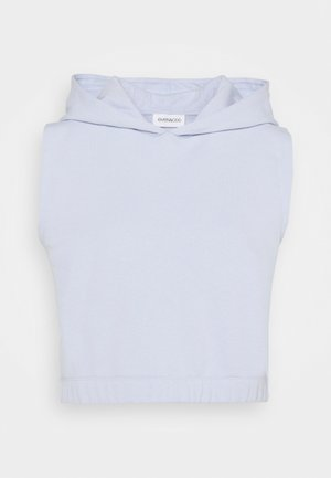 Cropped sleeveless hoodie - Mikina - light blue