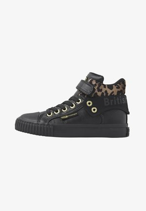 ROCO - Sneakers hoog - black/rust leopard/gold/black