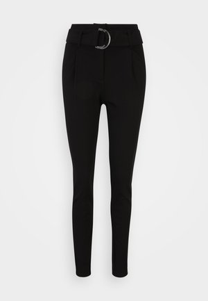 VMBAILEY PAPERBAG BELT PANTS - Spodnie materiałowe - black