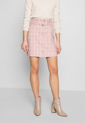 CHECKBELTED  - Pencil skirt - pink