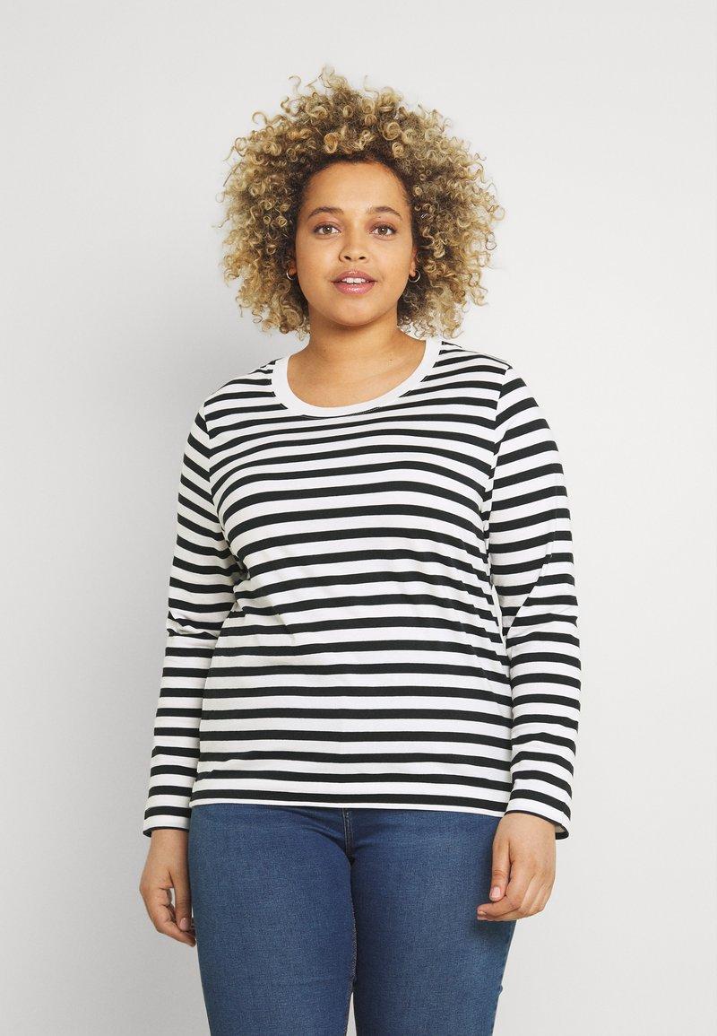 Selected Femme Curve - SLFANDARD - Long sleeved top - black