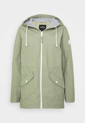 LONG RAIN JACKET - Parka - olive