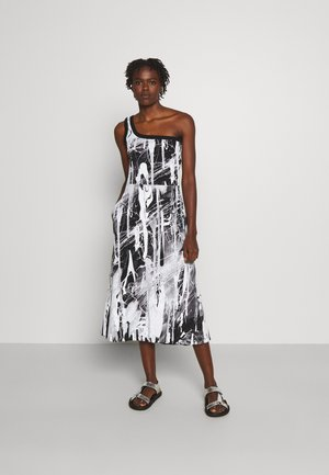 MINDSCAPE ONE SHOULDER DRESS - Jerseyjurk - black/white