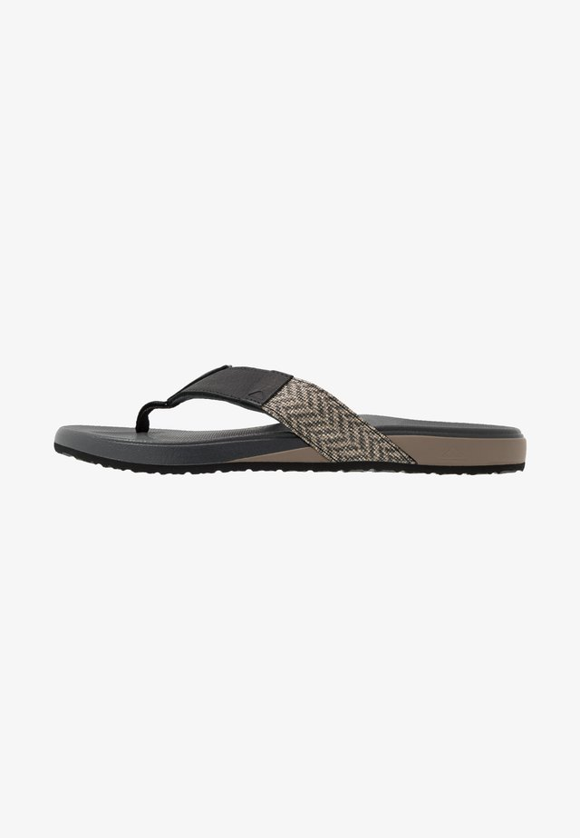 BOUNCE PHANTOM SE - Flip Flops - grey/black
