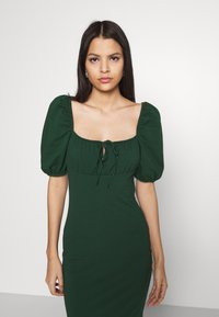 Glamorous - CARE PUFF SHORT SLEEVED MIDI DRESSES WITH SQUARE NECKLINE - Jerseyjurk - forest green - 3