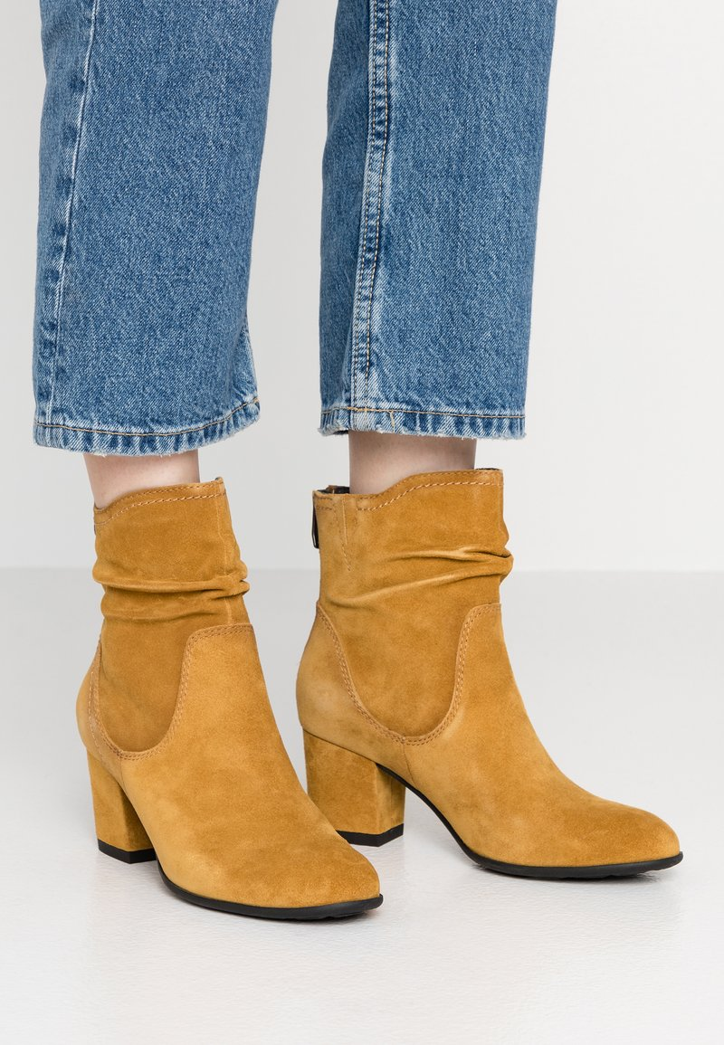 Be Natural - Classic ankle boots - saffron