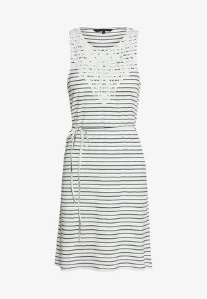 VMHELA SHORT DRESS - Sukienka z dżerseju - snow white/night sky