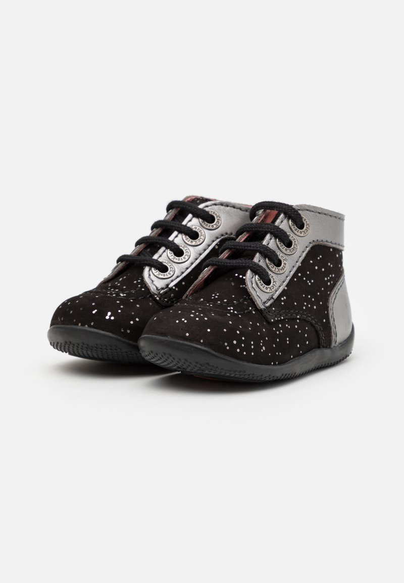 Kickers BONBON Kinder Jungen Sneaker Grau Turn-Schuhe Sport Lauf Schuhe