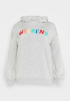 WEEKEND SLOGAN HOODIE - Bluza z kapturem - grey marl