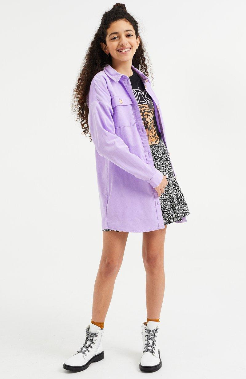WE Fashion - CORDUROY - Overhemdblouse - lilac