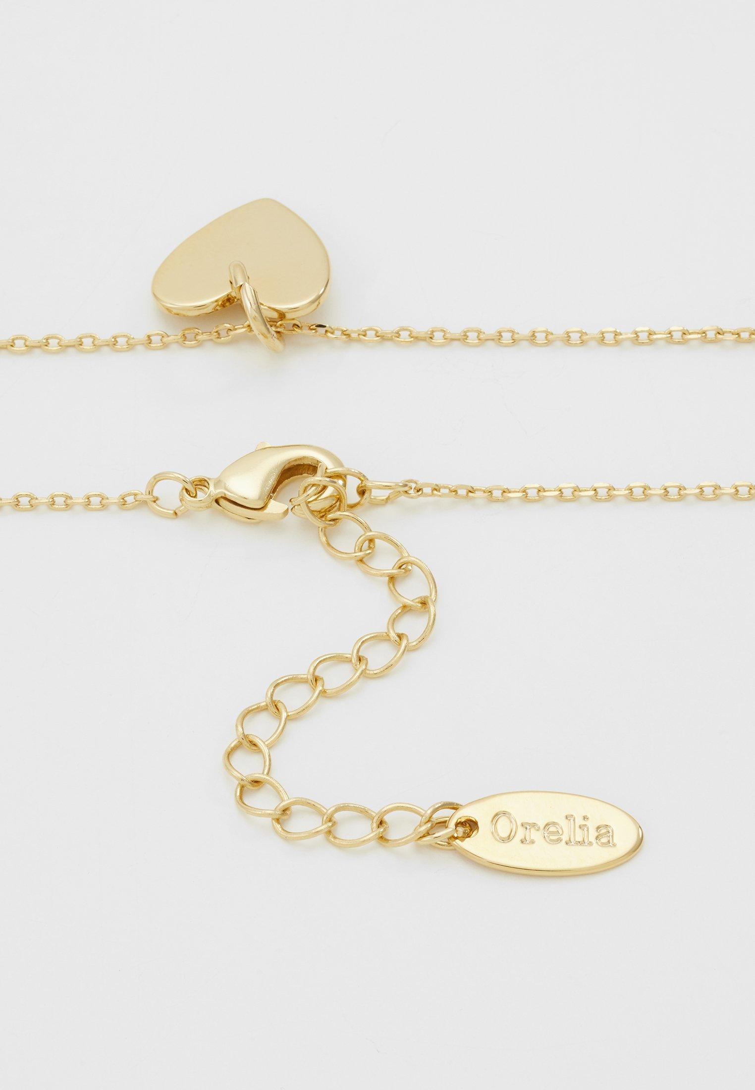 Orelia HEART CHARM GIFT POUCH - Smykke - pale gold-coloured/gull ERvwNsGZcKnoooj