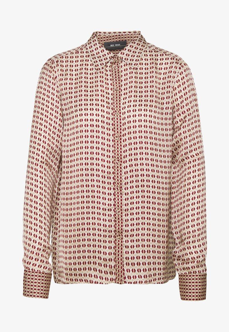 Mos Mosh - TAYLOR RETRO - Button-down blouse - biking red