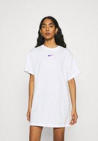 Nike Sportswear - DRESS - Jersey dress - white - 0