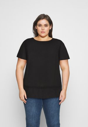 SHEER HEM - Pusero - black