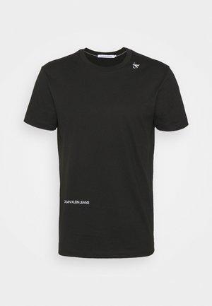 MICRO LOGO TEE UNISEX - T-shirt imprimé - black