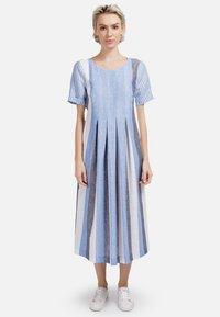 HELMIDGE - Day dress - weiss hellblau - 0