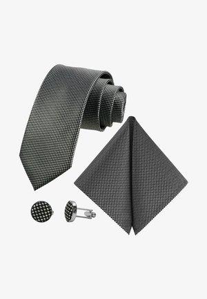MORENO CRAVATTA 3SET  - Pocket square - schwarz  weiß kariert