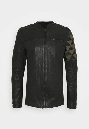 BECOEN - Leather jacket - black red