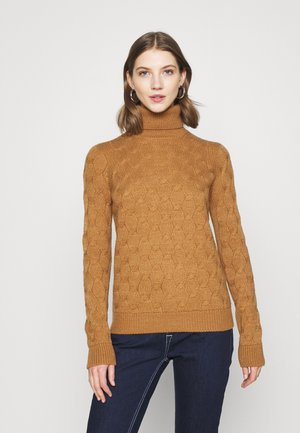 VMWAVES ROLLNECK  - Jumper - tobacco brown