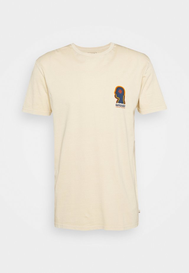 EARTH RUNNING - Print T-shirt - antique white