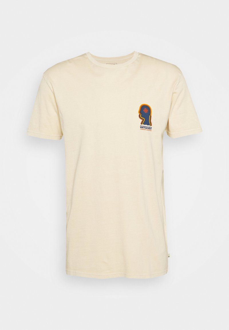 Quiksilver - EARTH RUNNING - T-shirt con stampa - antique white