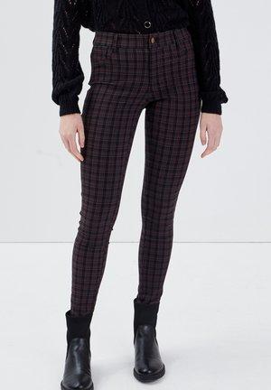 SKINNY - Trousers - bordeaux