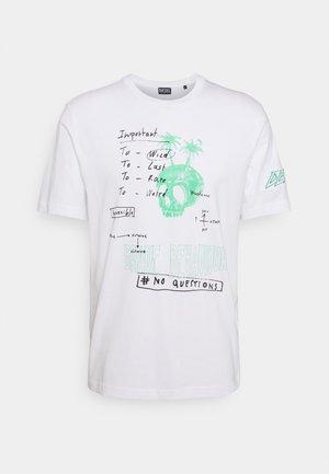 T-JUST-B61 UNISEX - Print T-shirt - white