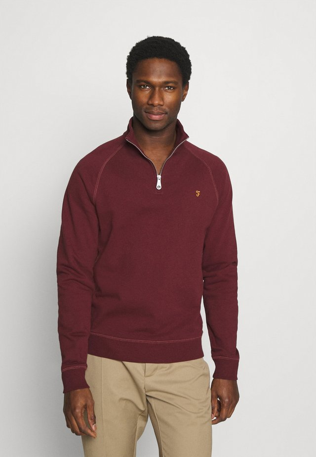 JIM ZIP - Sweatshirt - farah red marl