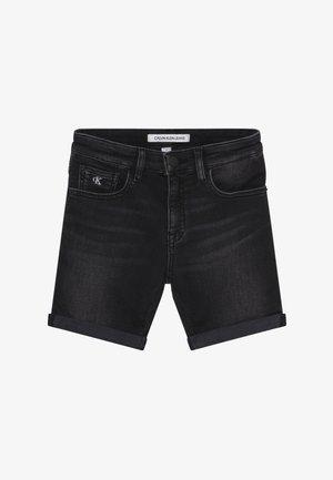 SLIM - Jeans Short / cowboy shorts - black