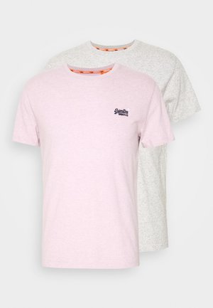 VINTAGE TEE MULTI 2 PACK - T-shirt basic - silver glass/chalk pink feeder