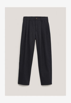 AUS BAUMWOLLE IM BARREL-FIT  - Pantalon classique - dark blue