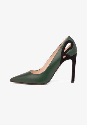 Czółenka - green/black