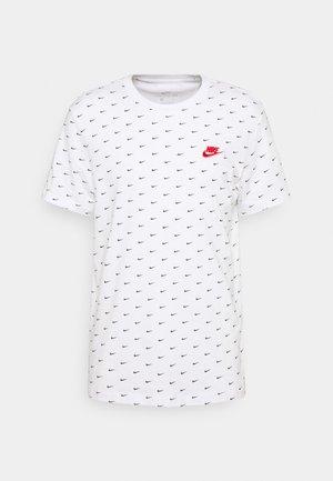 TEE MINI - Print T-shirt - white/black/university red