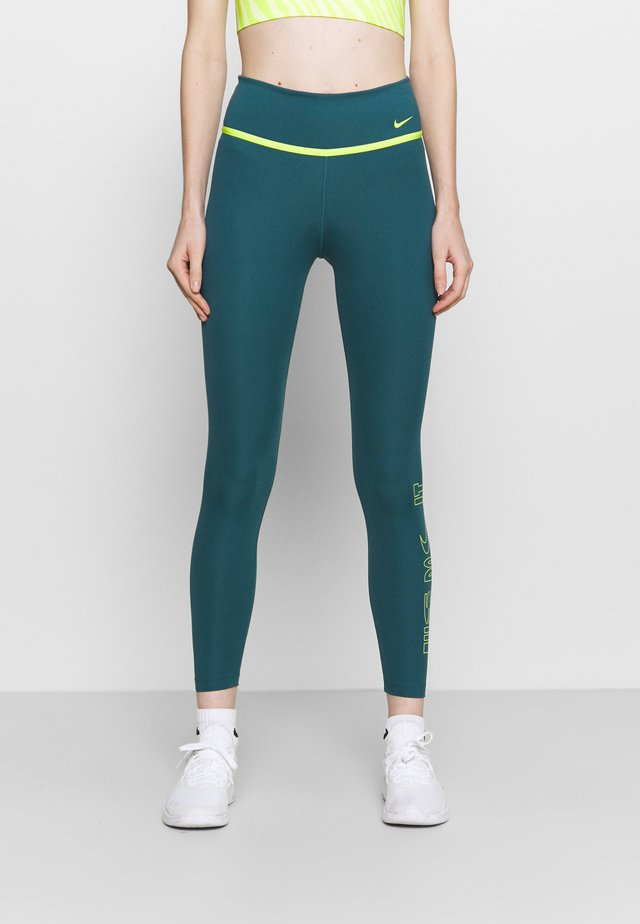 ONE 7/8 - Leggings - dark teal green/cyber