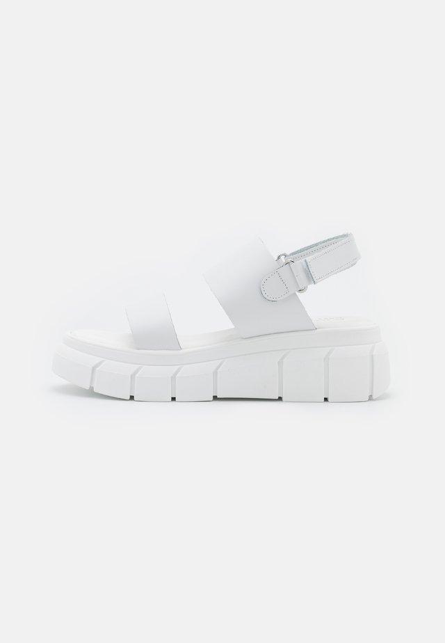 Platform sandals - all white